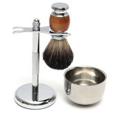 Shaver Kit Pure Badger Wet Shaving Brush with  Mug Bowl  and Stand Shave Razor Set