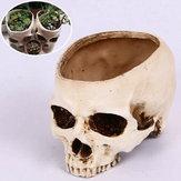 Halloween Skull Horrible Flower Pot Resin Artifical Skull Head Flower Pot Decoration