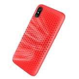 Original Rock Mesh Heat Dissipation Soft TPU Case For iPhone X