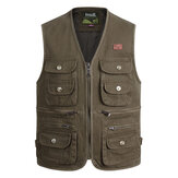 Outdoor Photography Fishing Multi-pocket Tactical Functional Cotton Sleeveless Vest