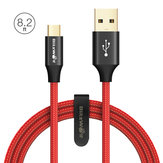 BlitzWolf® AmpCore Turbo BW-MC9 2.4A Braided Durable Micro USB Charging Data Cable 8.2ft/2.5m