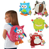Cute Cartoon Baby Backpack 3D Animal Plush Package Snap Toys Bag Travel Outdoors