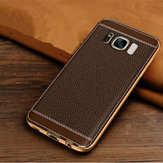 Plating Litchi Texture Leather TPU Case For Samsung Galaxy S8