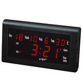 Original 12/24 Hours Desktop Clock Big Number Lcd Display Temperature Date Week Month Table Clock