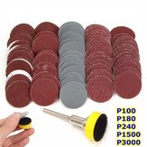 Effetool BG0355 100pcs 25mm 100-3000 Grit Sand Paper with Hook and Loop Backer Pad