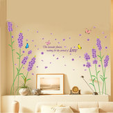 Removable Purple Lavender Wall Sticker Romance Home Decor Decal