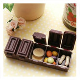 Chocolate Shape Pill Vitamin Case Storage Box