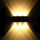 6W Warm White 6LED Wall Lamp Aluminum Decor Hallway 110-220V