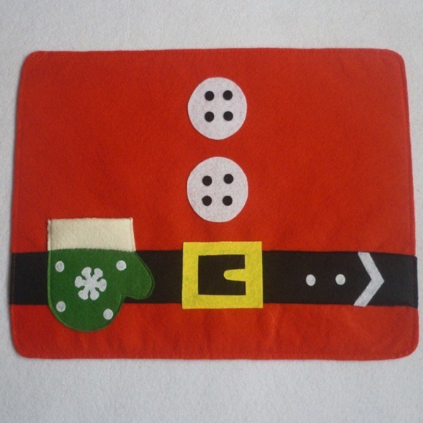Christmas Glove Dining Table Mat Holiday