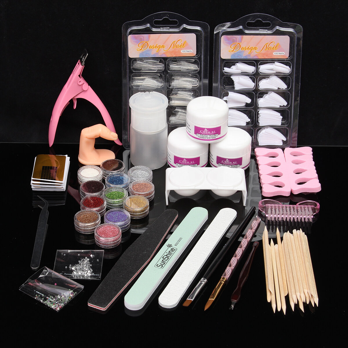 Acrylic Powder Nail Art Set Pink