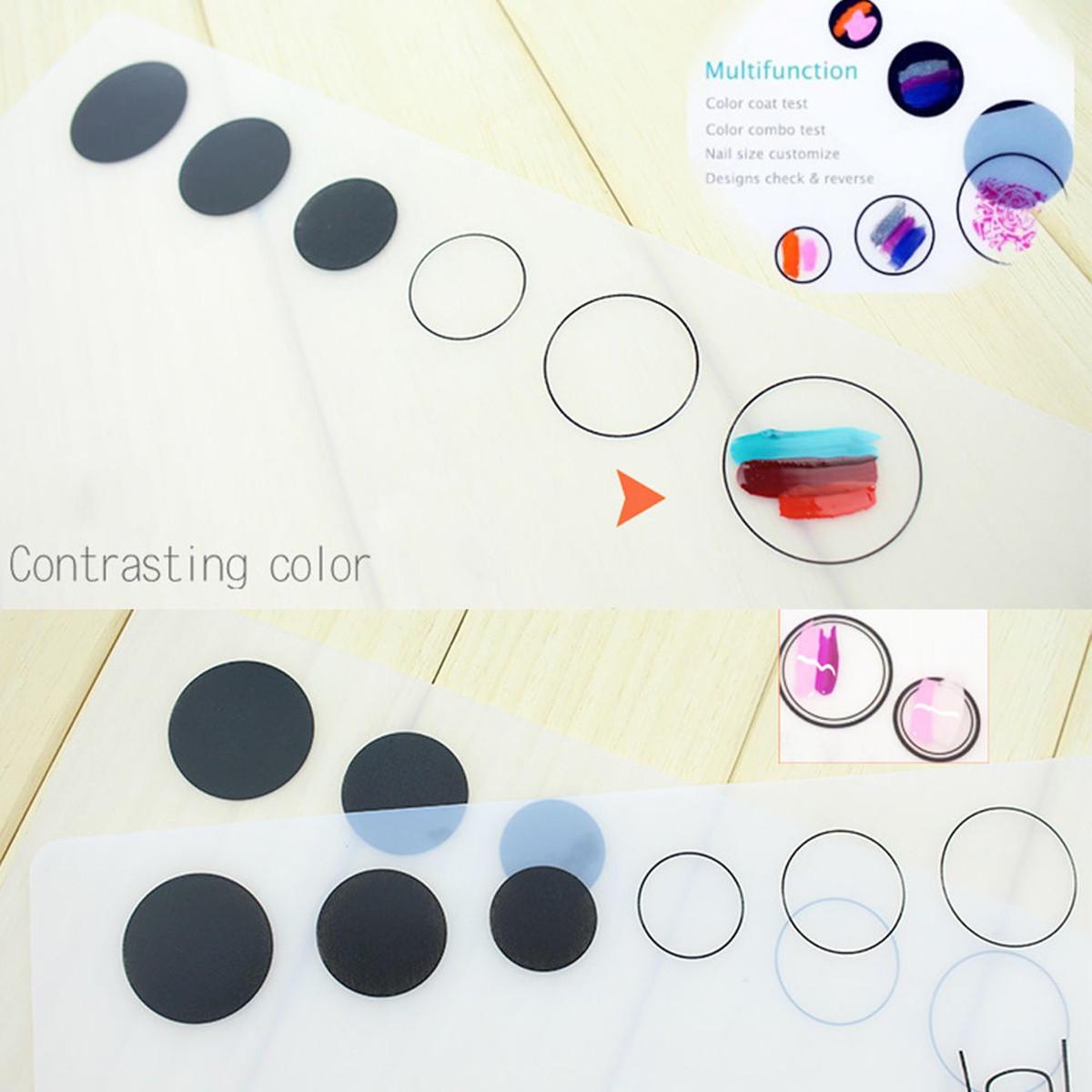 Nail Art Silicone Practice Mat Stamping