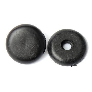 Car Vehicle Seat Belt Retaining Replacement Button Stop Black