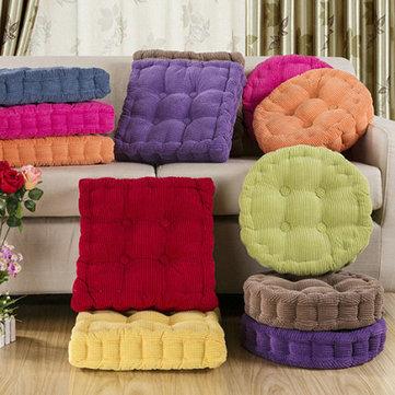 Almofada redonda macio assento de fibra engrossado sofá casa robusto piso cadeira de escritório travesseiro