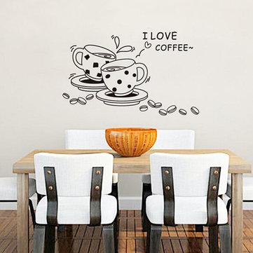 القهوة مطعم الجدار ملصق 3d الرئيسية ديكريشن الفن خلفيات
