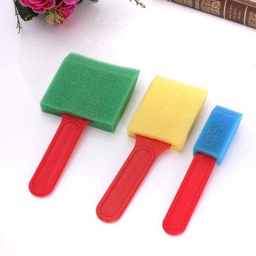 3PCS Foam Brush Sponge Flat Assorted