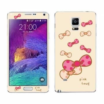 Samsung Galaxy Note 4 için Basılı Sticker Ekran Koruyucu Cilt Kapağı