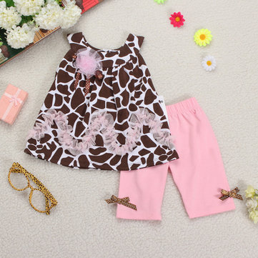 Baby Girl Toddler Kid Flower Dresses Leggings Pants Clothing Sets