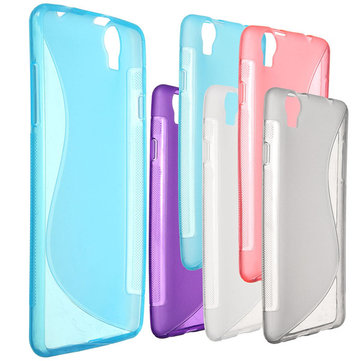 Ultra Slim S-Line Clear Soft TPU Case Back Cover For Elephone G7