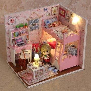 人形と愛のハンドメイドの装飾モデルのCuteroom DIYの木製のドールハウスの気分