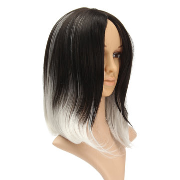 Greyish White Heat Resistant Synthetic Fiber Full Hair Wig Cosplay Costume Rose Play