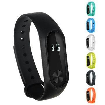 Buy Bakeey™ Replacement Silicone Wrist Strap WristBand Bracelet for XIAOMI Miband 2 for $2.99 in Banggood store