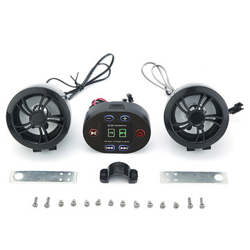 36V 48V Electric Scooter Stereo Sound System Waterproof MP3 USB Radio with Bluetooth Function