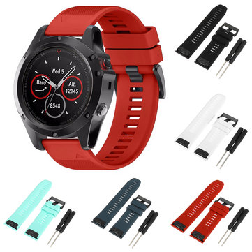 26mm Replacement Silicone Wristband Watchband Strap Bracelet For Garmin Fenix 5X
