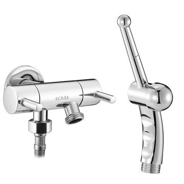kcasa hand held bidet shower toilet sprayer with double