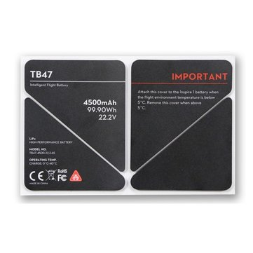 TB47 4500MAH Battery Heat Preservation Sticker Battery Thermal Insulation Sticker for DJI Inspire 1