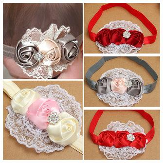 Cute Toddler Girls Baby Kids Rose Flower Hair Band Headbrand Headwear Accessories