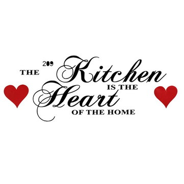 60x28CM Wall Sticker Kitchen Heart of Home Wall Art Sticker House Decoration