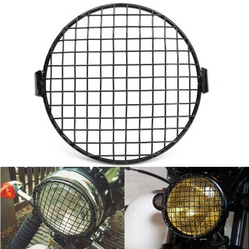 16cm 6.4 Inch Retro Grill Motorcycle Headlight Lamp Cover