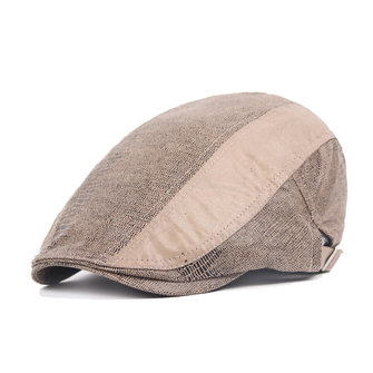 Unisex Snake Skin Imitation Katoen Beret Hat Buck Adjustable Paper Boy Cabbie Gentleman Cap