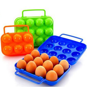 Portable Folding Blue Durable Plastic  6 Case Eggbox/Eggbox/Two Case Eggbox