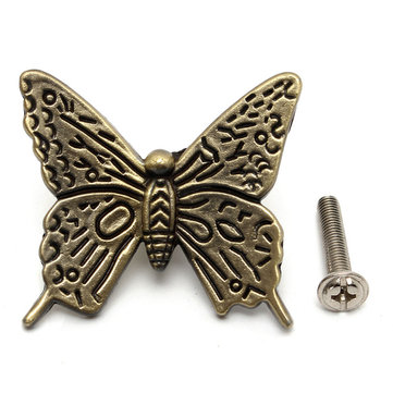 Buy Butterfly Cabinet Handles Kitchen Furniture drawer pull knob Screws
