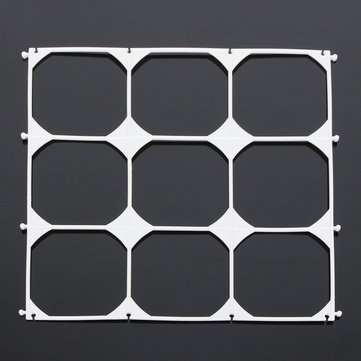 10Pcs Balloon Grid Frame Square 9 Grids Modeling Party Balloons Wall Wedding Decoration