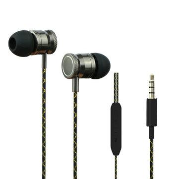 3.5 ملليمتر في الأذن سماعات سوبر واضح باس المعادن سماعة ل mp3 mp4 فون Samsung زياومي اللوحي