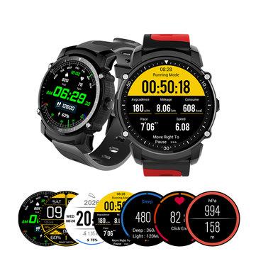 Kingwear FS08 Transflective TFT 1.26inch GPS HeartRate 모니터 보수계 스마트 시계 아이폰 Xiaomi