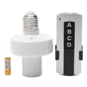E27 Screw Wireless Remote Control Lamp Bulb Holder Cap Socket Switch