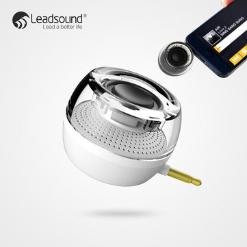 Leadsound F10 Mini Portable 3.5mm Plug-in Aux Audio Jack Hifi Speaker for phone Tablet iPad iPhone