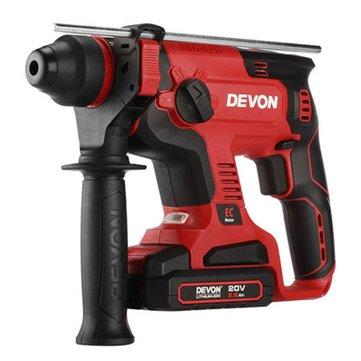 DEVON® 5401-Li-20RH 2.6Ah Çift Kullanımlı Şarj Hammer Darbe Matkap Işık ile