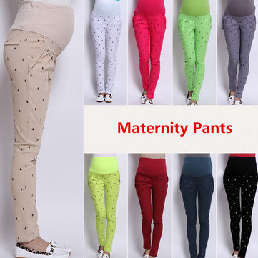 Abjustable Pregnant Women Abdominal Maternity Pants Belly Leggings Trousers