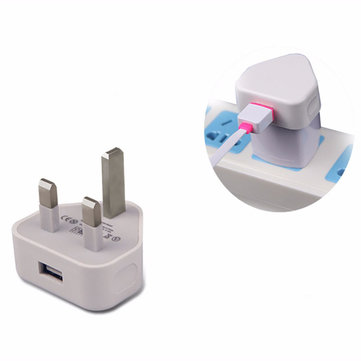 UK Home Wall 3 Pin USB Plug Power Adapter Lader Voor iPhone 6S Plus Mobiele Telefoon Tablet