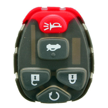 5 Buttons Remote Key Keyless Rubber Pad For Chevrolet Fob Rplacement Repair Fix