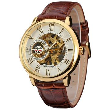 FORSINING U8073 Gold Чехол Roman Number Механический Наручные часы