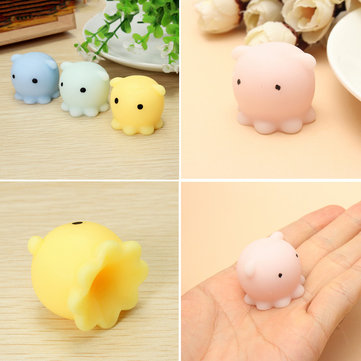 4PCS Octopus Squishy Squeeze Toy Cute Healing Toy Kawaii Collection spanningsverlichter Gift Decor
