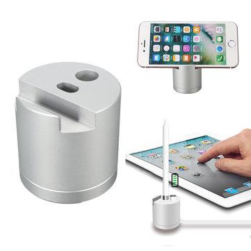 Titolare dello stand di ricarica dock station in alluminio removibile per la matita mela iPhone iPad Mini