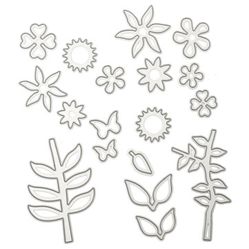 Spring Flower DIY Metal Cutting Dies Stencil Paper Craft Card Making Album Decor Flower