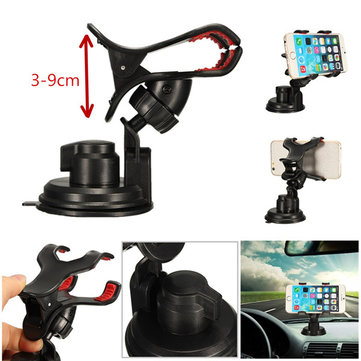 Anti-Slip Clip 360° Car Windshield Dashboard Suction Mount Holder Stand Cradle For iPhone 6S Samsung