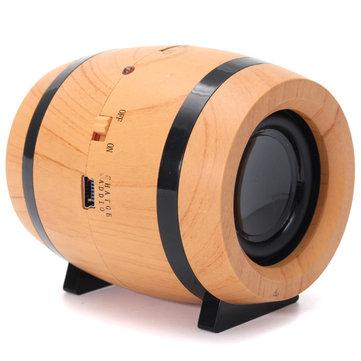 Mini draadloze Bluetooth-luidspreker Cool Beer Barrels Vorm Dubbele Spreker TF Card